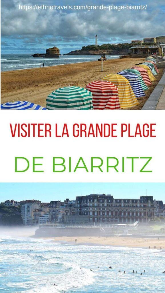 Pin visiter la grande plage Biarritz