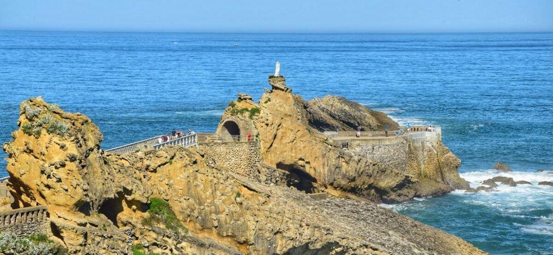 Le Rocher de la Vierge depuis le plateau de l'Atalaye Biarritz