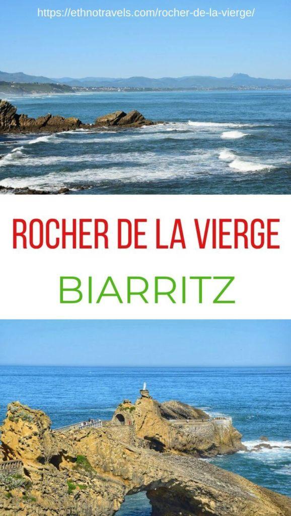 Pinterest Rocher de la Vierge Biarritz