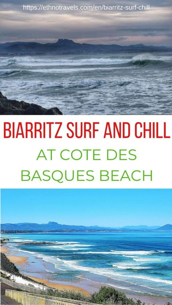Biarritz surf and chill at Cote des Basques beach