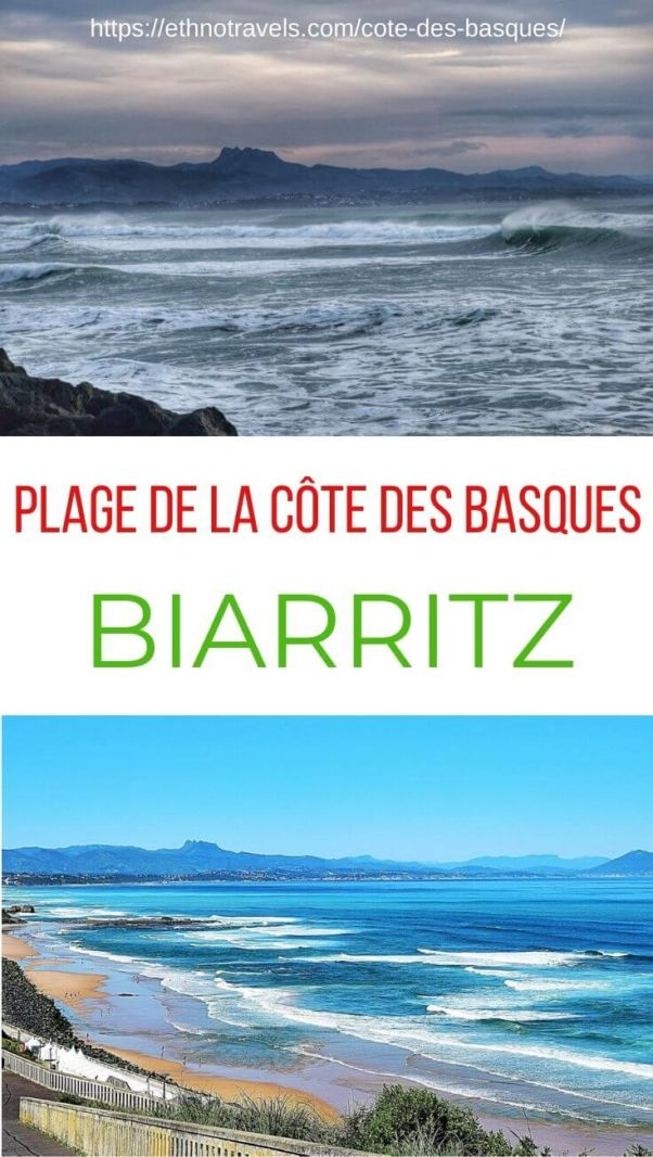 Epingle cote des Basques Biarritz