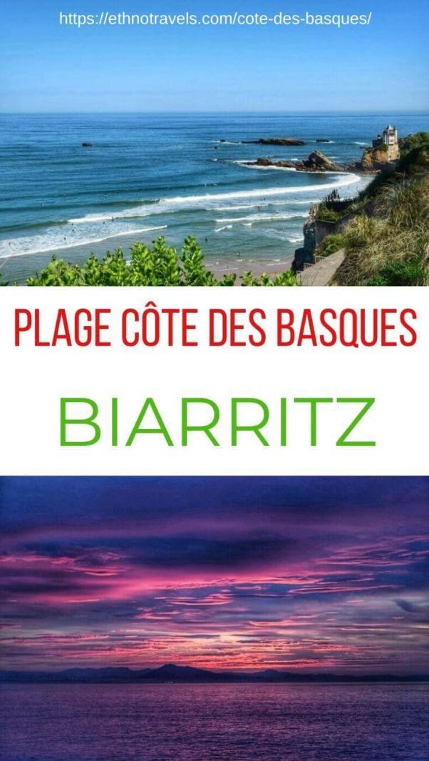 Pin plage de la Côte des Basques Biarritz
