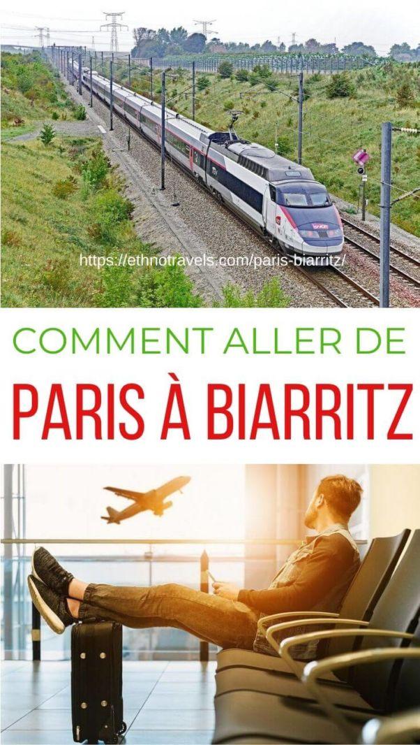 Trajet Paris Biarritz