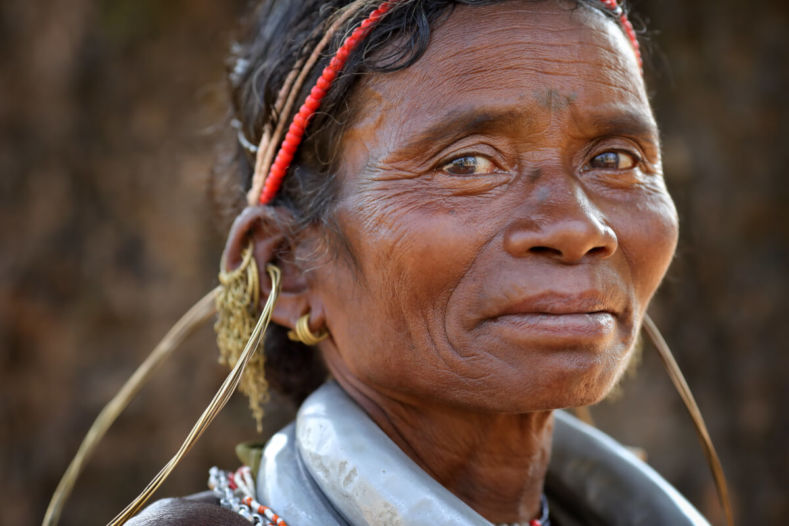 Gadaba Tribal woman with her traditional jewels