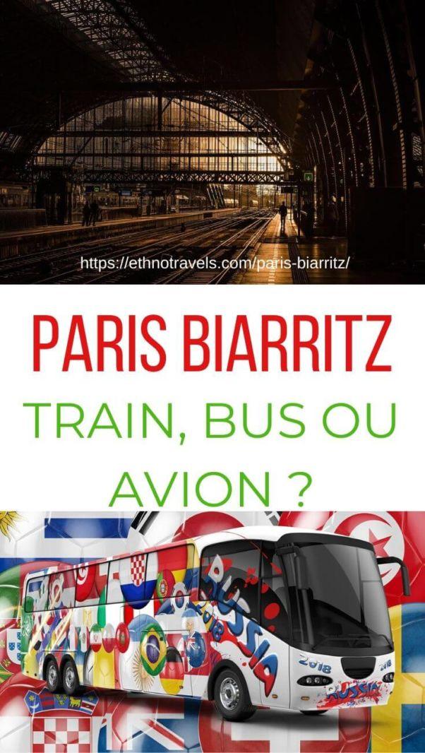 Quel moyen de transport pour Paris Biarritz