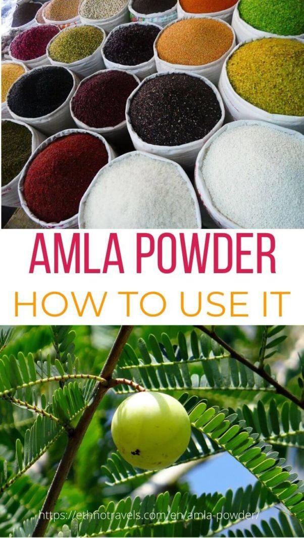 Amla powder pin