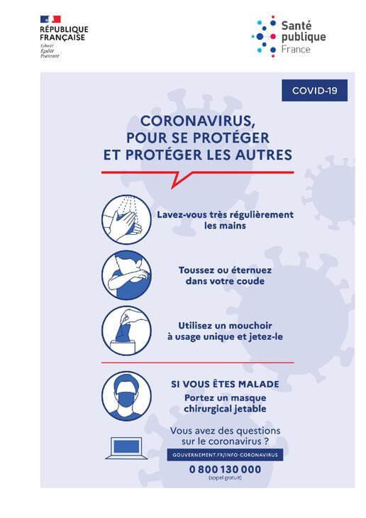 affiche se protéger du coronavirus