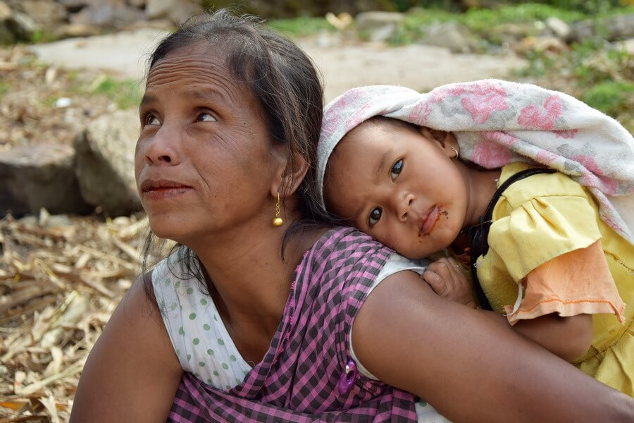 A Khasi woman and her baby in Meghalaya