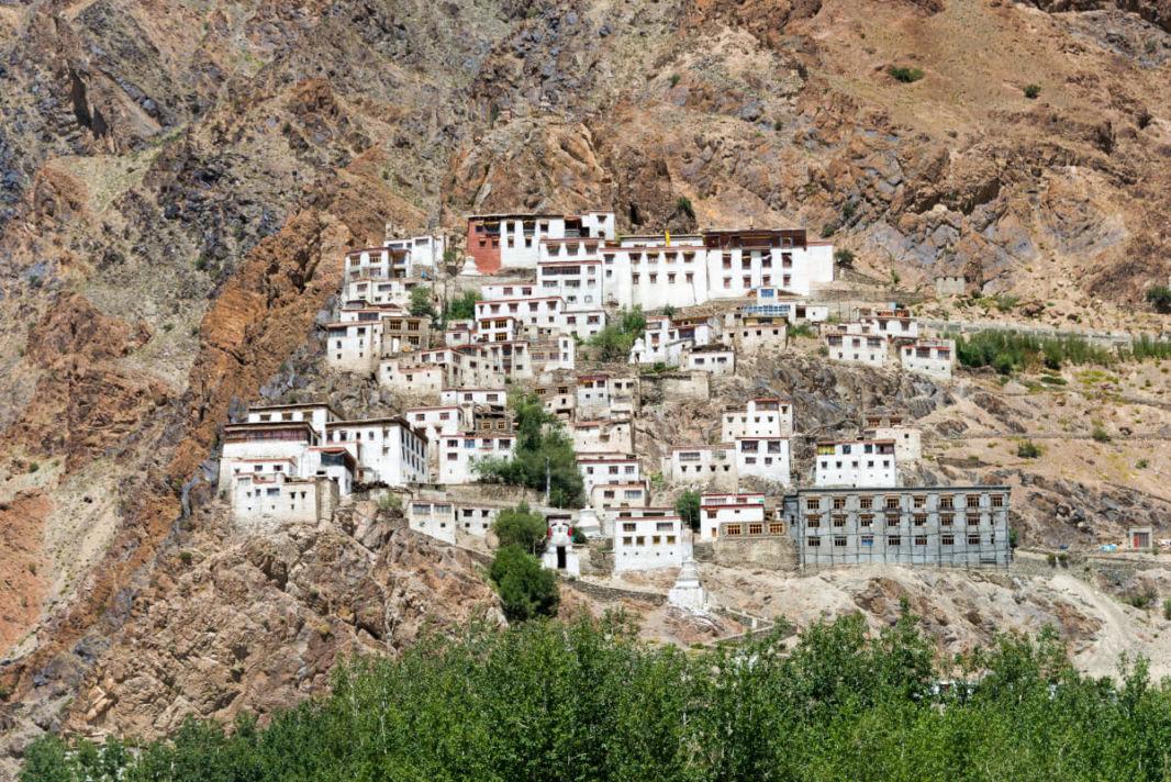 Kursha Monastery on a cliff