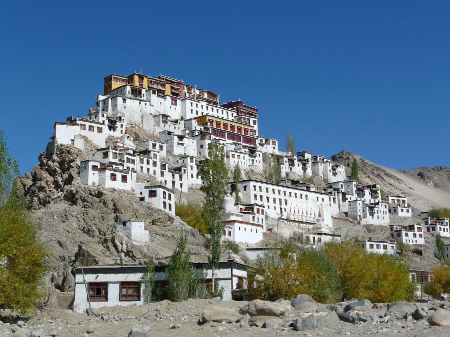 A monastery in Ladakh during an Indian itinerary throughout Jammu Kashmir