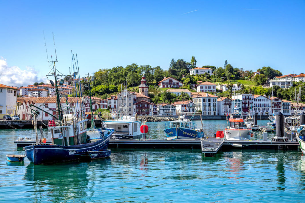 The harbour of Saint Jean de Luz and Ciboure