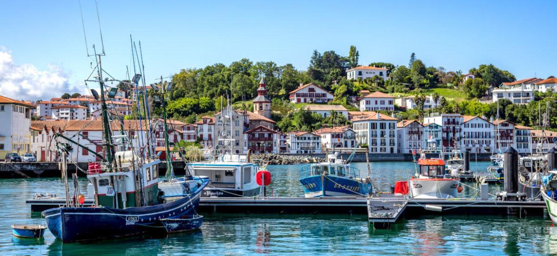The harbour of Saint Jean de Luz and Ciboure
