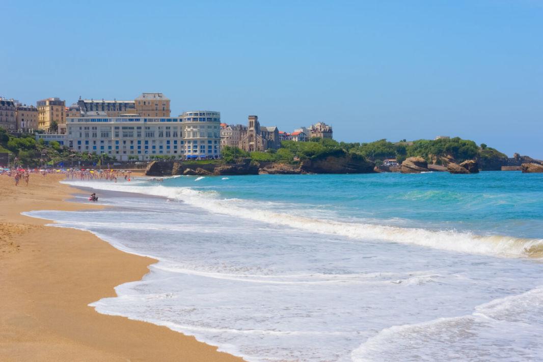 Panoramique de la grande plage de Biarritz