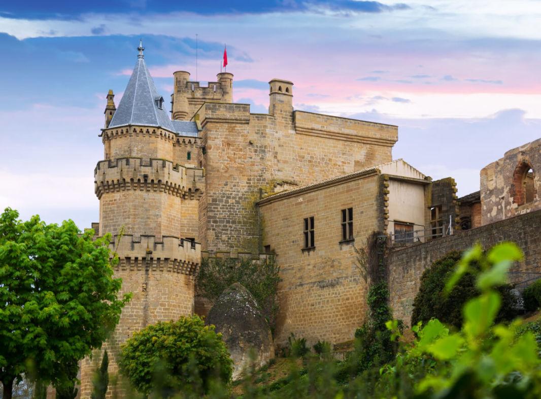 Vue extérieur du château d'Olite