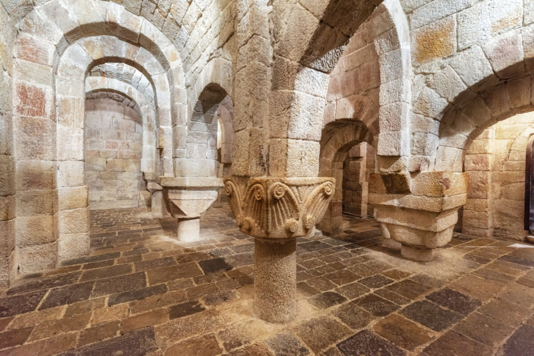 Inside the crypt of Leyre monastery