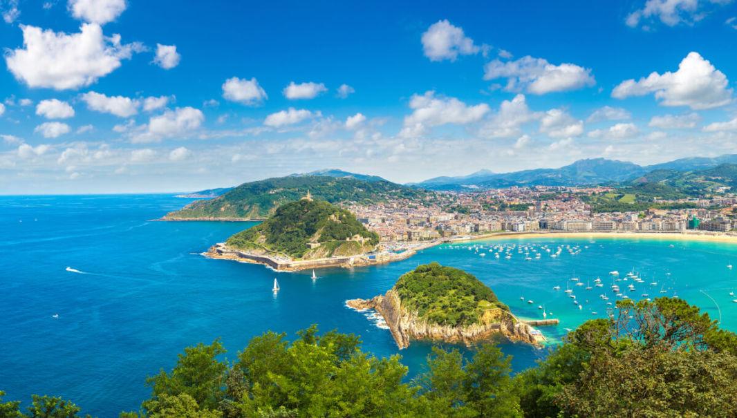 Vue sur Saint Sébastian Espagne depuis le Monte Igueldo