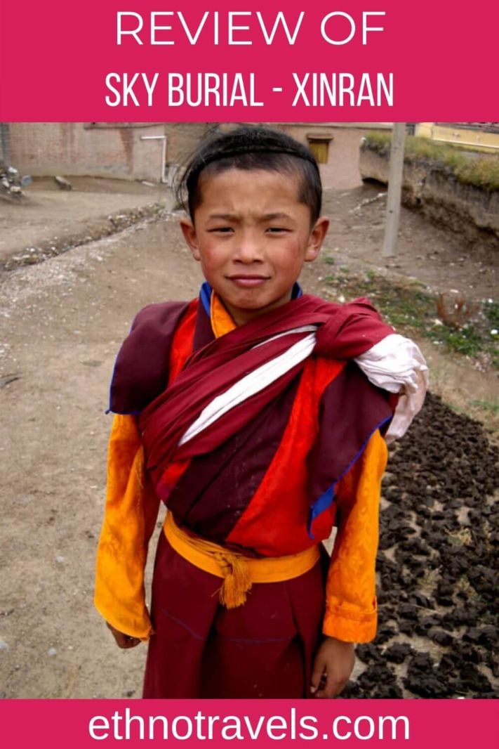 Young Tibetan monk - Sky Burial book review