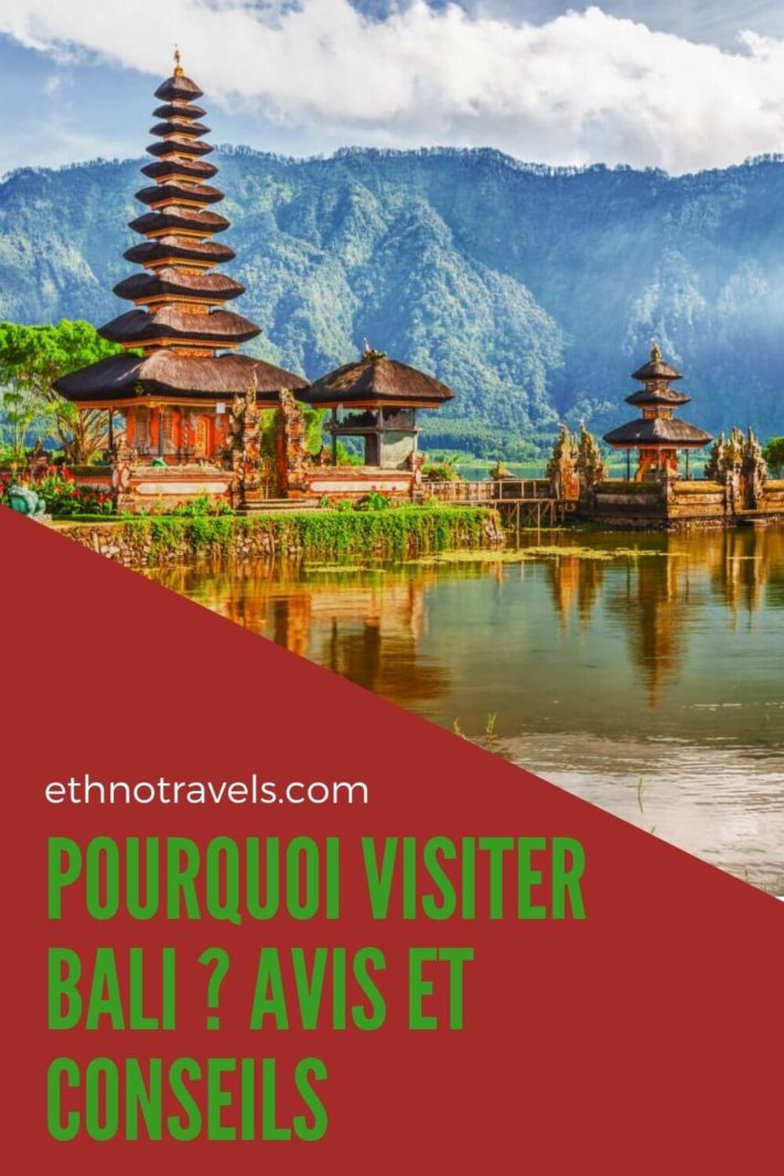 Le temple du lac Bratan à Bali Indonesie